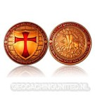 Templar Geocoin - Antique Copper