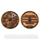 Geocacher's Day Geocoin - Antique Copper