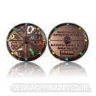 Geocacher's Day Geocoin - Black Nickel