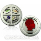 Geocaching - All In One Geocoin 2013 Antique Silver