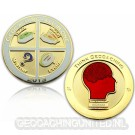 Geocaching - All In One Geocoin 2013 Polished Gold LE 150