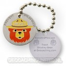 Smokey Bear travel tag