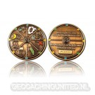Geocacher's Day Geocoin - Antique Gold