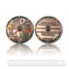 Geocacher's Day Geocoin - Antique Silver