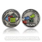 Save the Nature Geocoin - Antique Silver