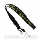Groundspeak GC Woven Lanyard -  Black/Green