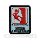 Camo Geocaching Logo Trackable Patch