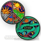 Peace Night and Day Geocoin - Zwart Nikkel