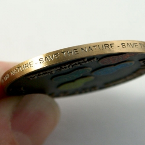 Save the Nature Geocoin Antique Gold