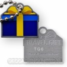 Travel Gift Tag - Blauw Geel