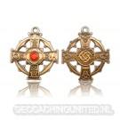 Raith Gras Geocoin Antique Gold - Red