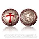 Templar Geocoin - Antique Silver