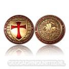 Templar Geocoin - Antique Gold