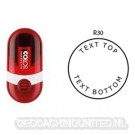 Log stempel - Pocket - 30 mm rond - Eigen tekst/logo