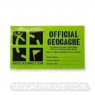 Groundspeak Cache Label (Medium) (6 Inch (15.2cm) x 3.5 Inch (8.9cm)