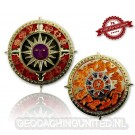 Zodiac Compass Geocoin - Polished Gold - XLE 75
