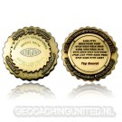 Enigma Geocoin - Antique Gold