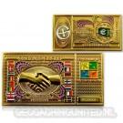 Euro Cache Geocoin - Gold Version