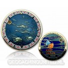 Reef Check Geocoin - Polished Gold