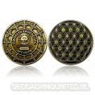 The Colors of Geocaching Geocoin - OPTIMISM - Antique Gold