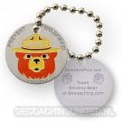 Smokey Bear travel tag