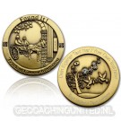 Wedding Geocoin - Antique Gold