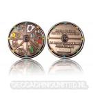 Geocacher's Day Geocoin - Antique Silver