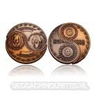 Come Together Geocoin Set - Antique Silver / Antique Gold