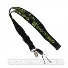 Groundspeak GC Woven Lanyard -  Black/Green