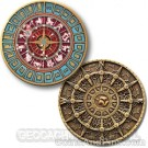 Time And Space GeoCoin - Blauw Brons